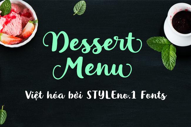 Font SVN Dessert Menu Scrips