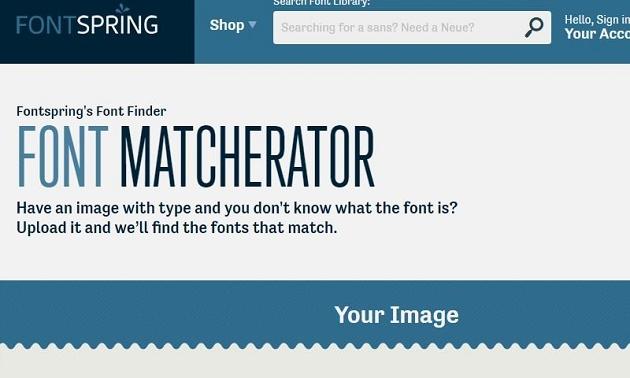công cụ cho phép người dùng có thể tải lên một hình ảnh hoặc chia sẻ liên kết URL của hình ảnh để xác định được chính xác font chữ được sử dụng