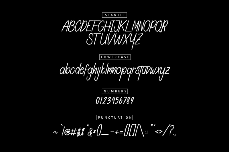 Font Chữ Thiết Kế STANTIC TYPEFACE