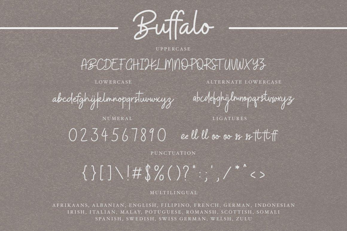 Font Chữ Viết Tay Buffalo Handwritten Font