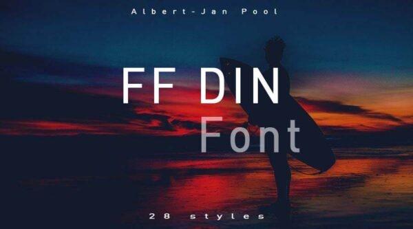 FF Din được hiện đại hóa bằng cách mở rộng các yếu tố nét tròn sang hướng hình bầu dục, vừa tạo cảm giác gần gũi, chiếm trọn cảm tình khách hàng