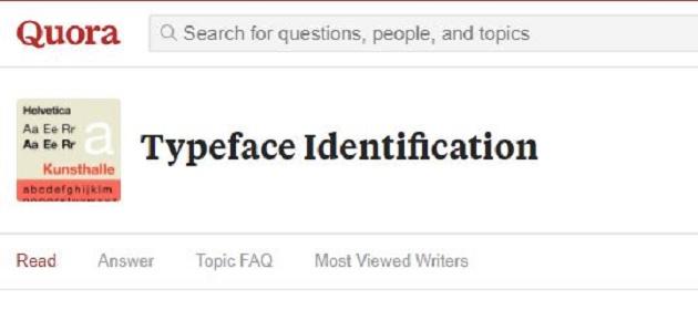 Quora là một công cụ tìm font và xác định font chữ có số người sử dụng trên toàn thế giới rất đông đảo