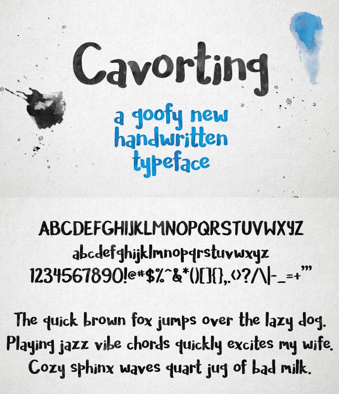 Font chữ viết tay Cavorting