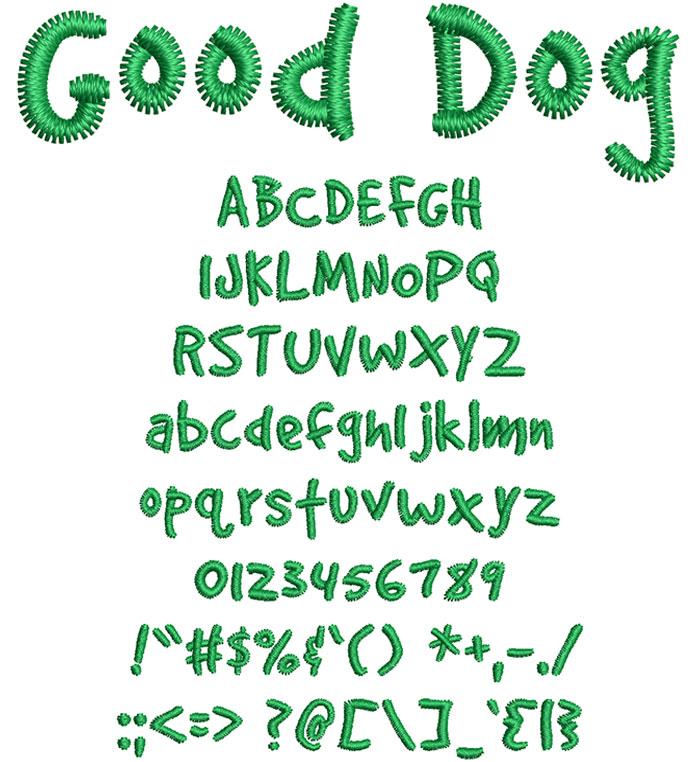 Font chữ viết tay GoodDog