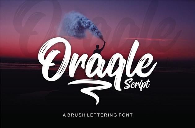font chữ nghệ thuật Oraqle Script – Free font
