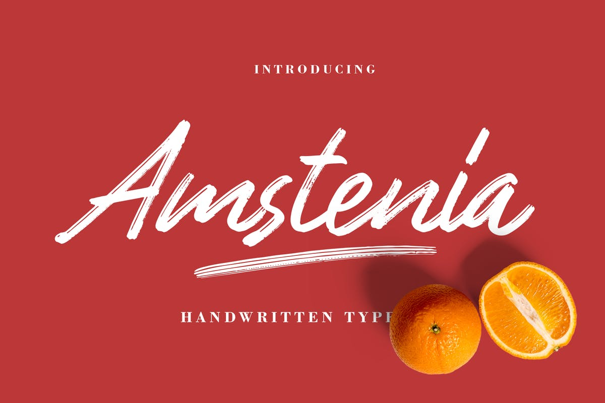 Font Chữ Viết Tay Amstenia Typeface