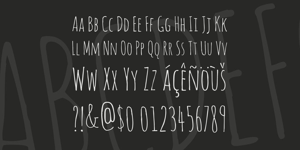 Font chữ viết tay Amatic