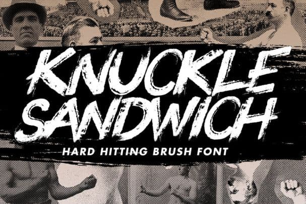 Knuckle Sandwich Handwritten Font