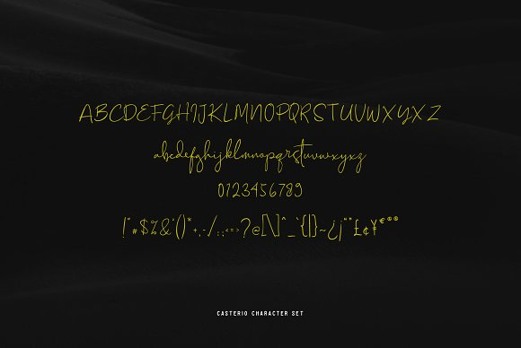 Font Chữ Thiết Kế CASTERIO SIGNATURE