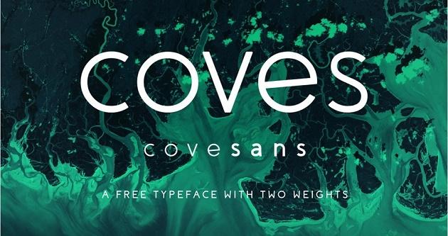 Một bộ font chữ tròn tuyệt đẹp khác bởi Jack Harvatt, Coves là sản phẩm luôn chiếm được cảm tình