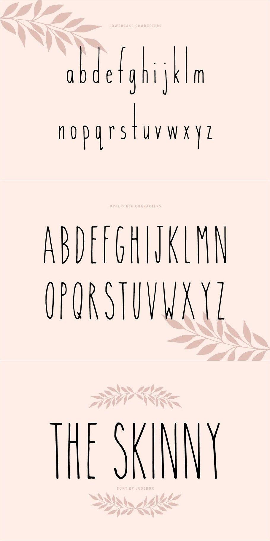 Font chữ viết tay Skinny