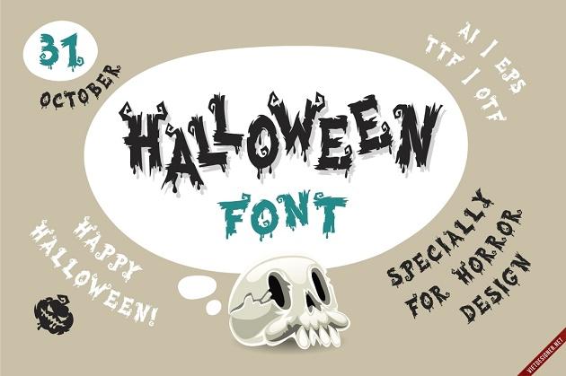 hình ảnh font chữ hallowen