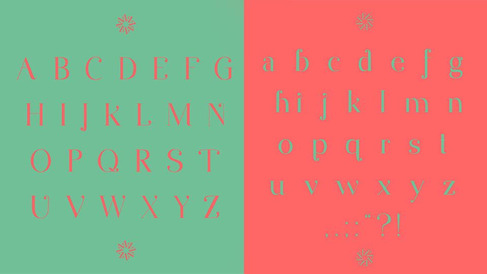 ont chữ đẹp Photoshop thuộc nhóm serif này có đầu cuối tròn độc đáo và phần cuối cong