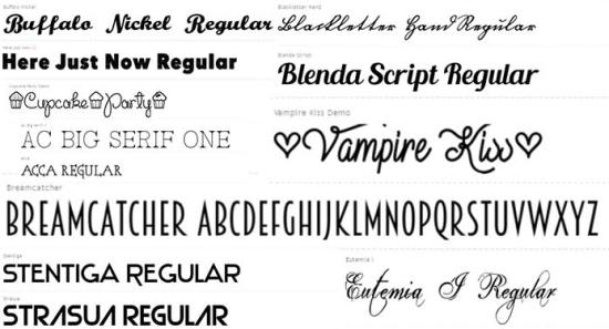 bộ font chữ đẹp cho photoshop