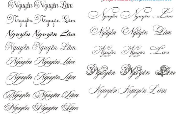 Chữ viết tay với đặc trưng bởi sự tự nhiên, thể hiện nét riêng của từng người. Với font chữ này bạn có thể cảm nhận được sự gần gũi và thân thiện qua từng đường nét