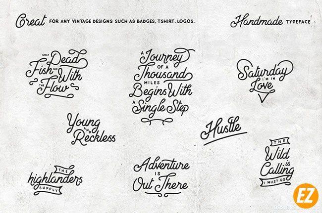 FS North Land font chữ vintage một tác phẩm ấn tượng thông qua việc kết hợp các định dạng
