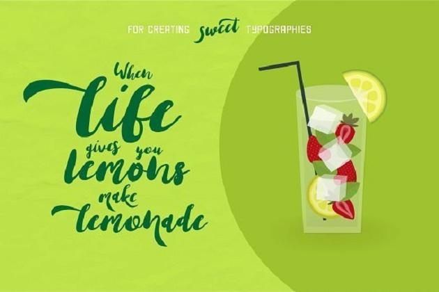 font chữ nghệ thuật Lemonade Script Font