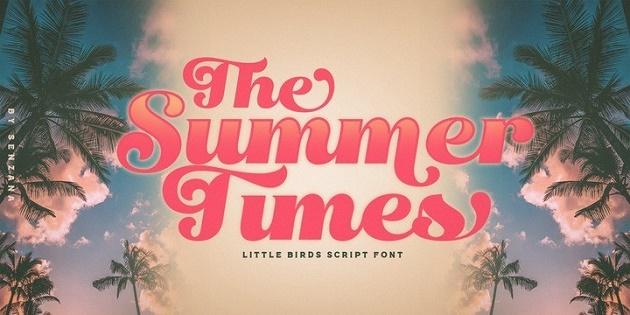 font chữ nghệ thuật Little Summer
