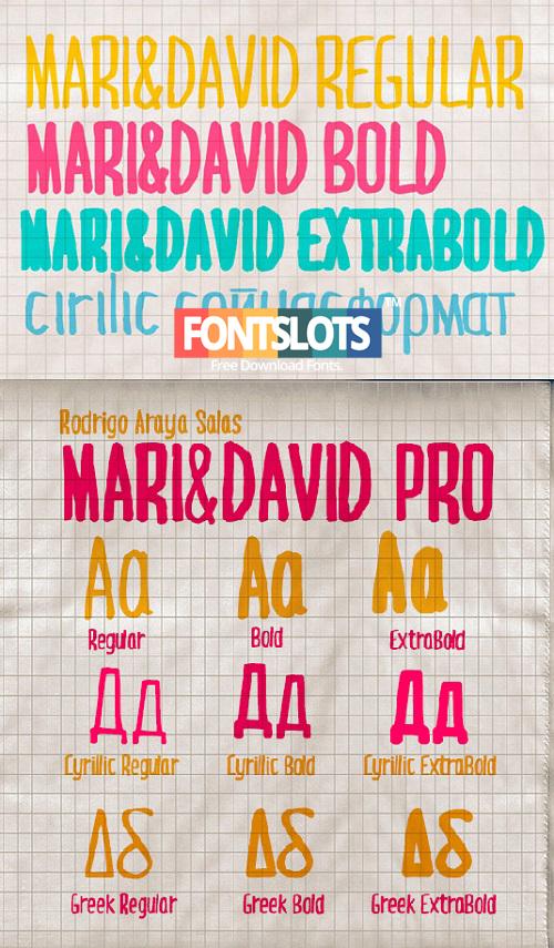 Font chữ viết tay Mari & David