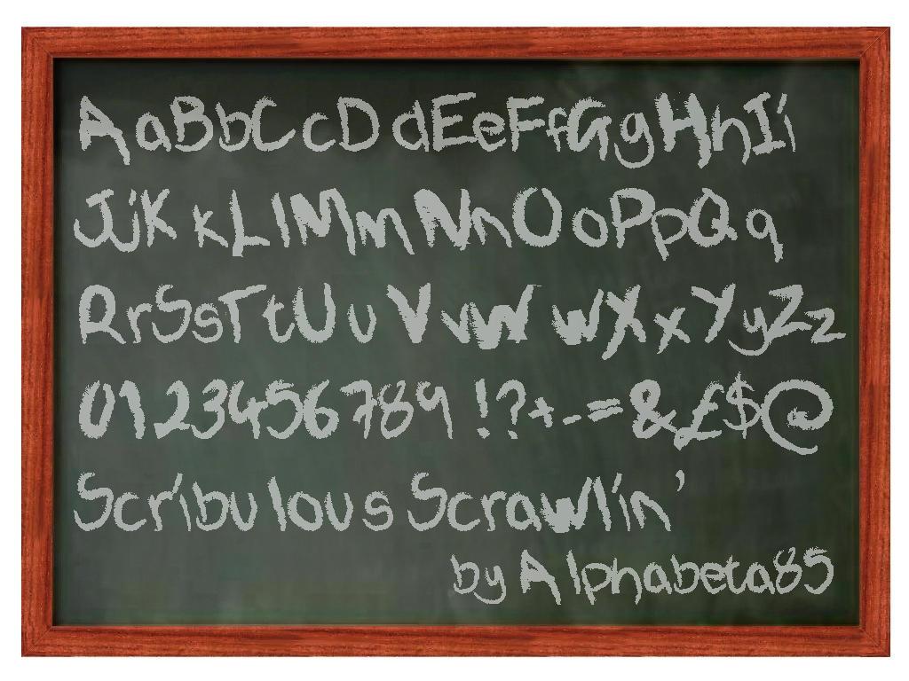 Font chữ viết tay Scribulous Scrawlin'