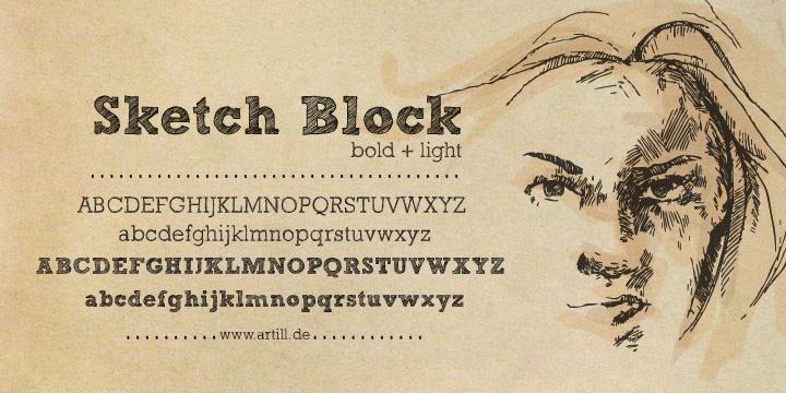 Font chữ viết tay Sketch Block