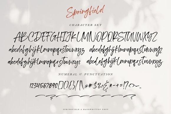 Font Chữ Thiết Kế SPRINGFIELD FONT