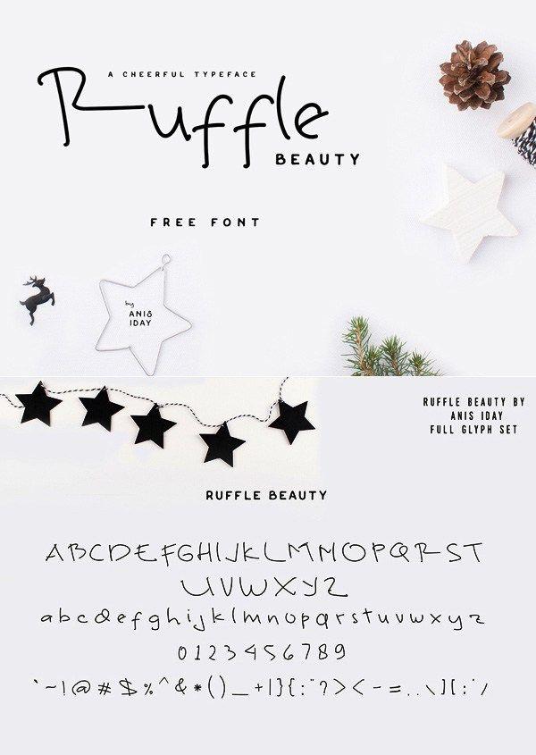 Font chữ viết tay Ruffle Beauty