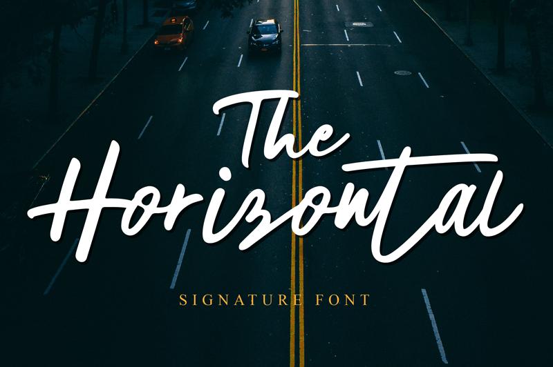 Phông chữ Horizontal