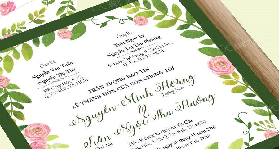 Font thiệp cưới