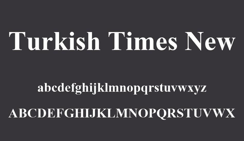 Font Chữ TIMES NEW ROMAN