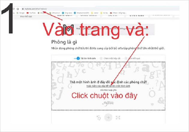 Cách tìm font chữ bằng công cụ trên hình ảnh bằng máy tính