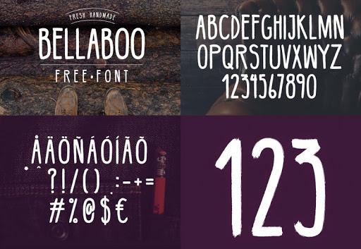 Font chữ viết tay Bellaboo